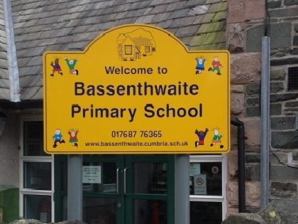 Bassenthwaite School Sign 2